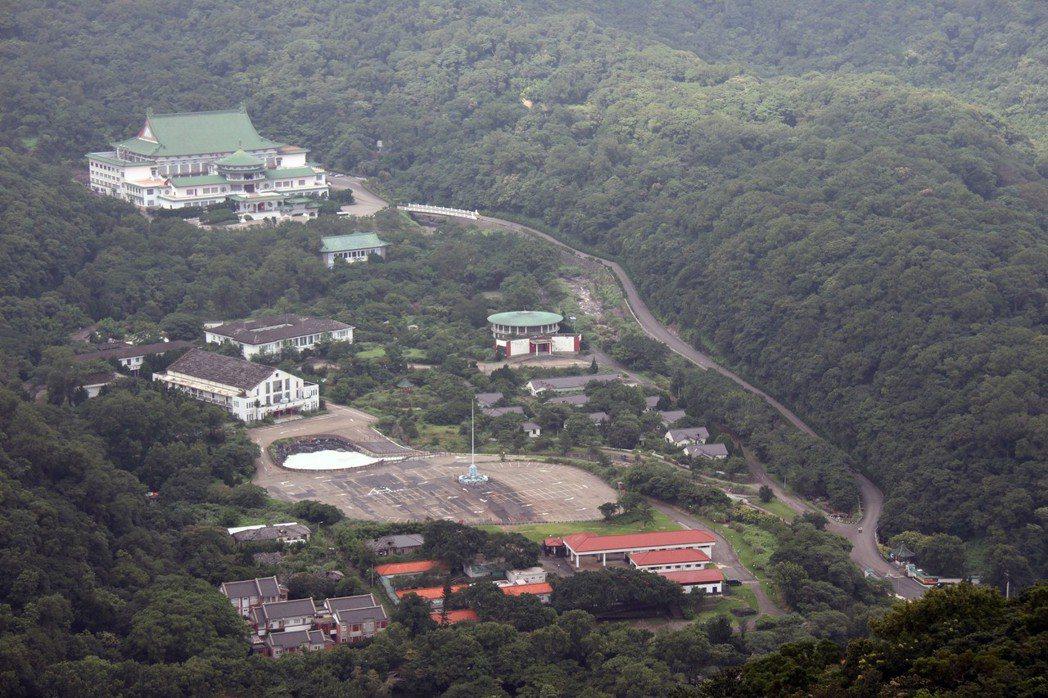 陽明山中山樓全境俯視圖。 報系資料照