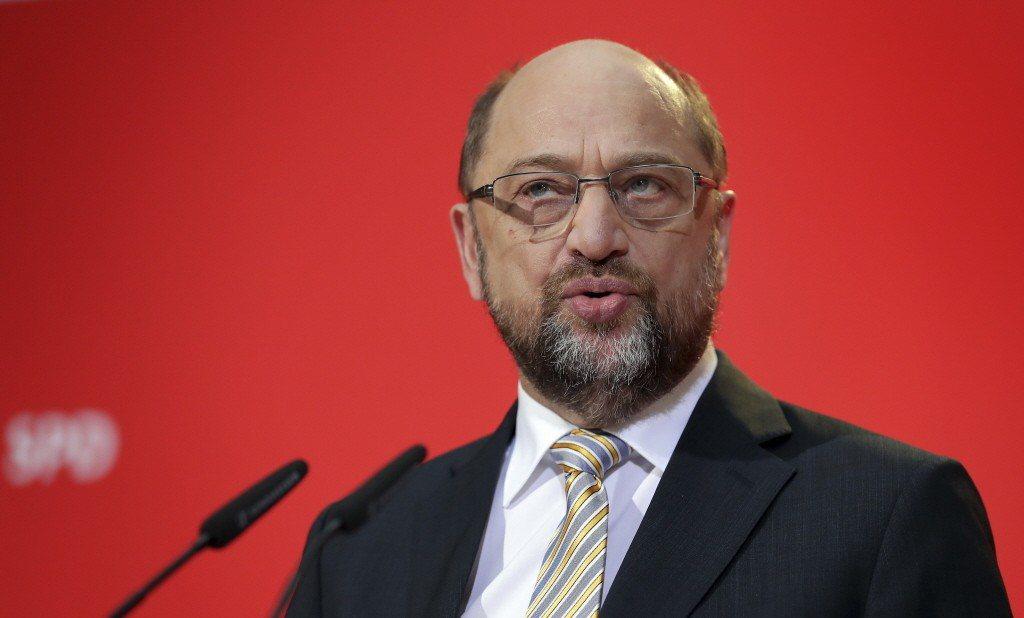 德國社民黨黨魁舒爾茲。美聯社