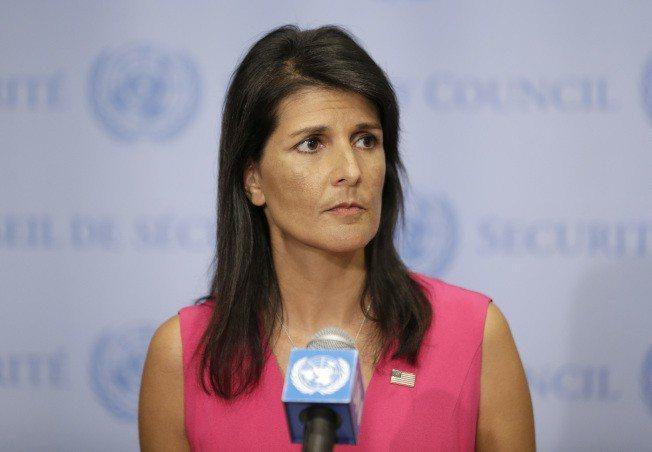美國駐聯合國大使海理。 美聯社