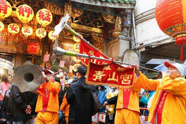 一年一度的青山王祭典是臺北市三大祭典中最喧囂的。 圖/聯合報系資料照