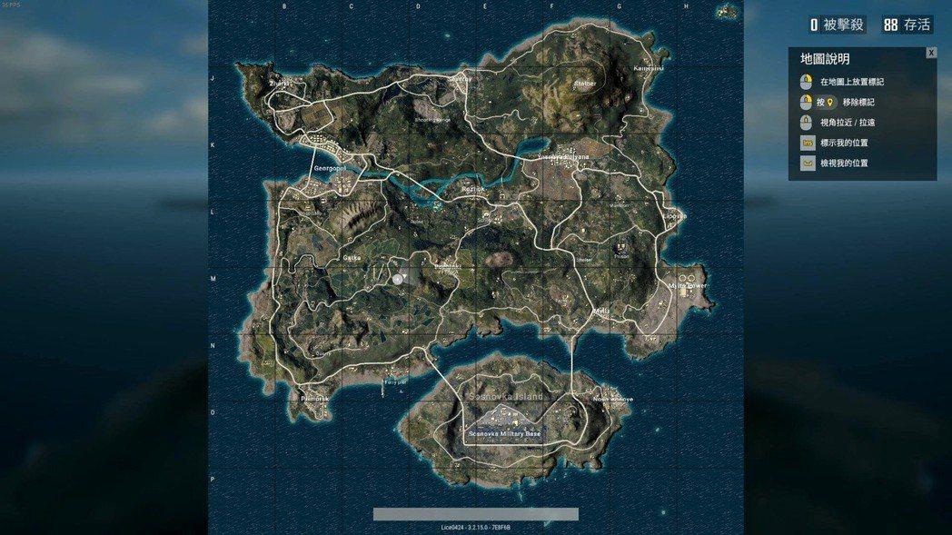 開場在開著大地圖狀態無法直接跳傘