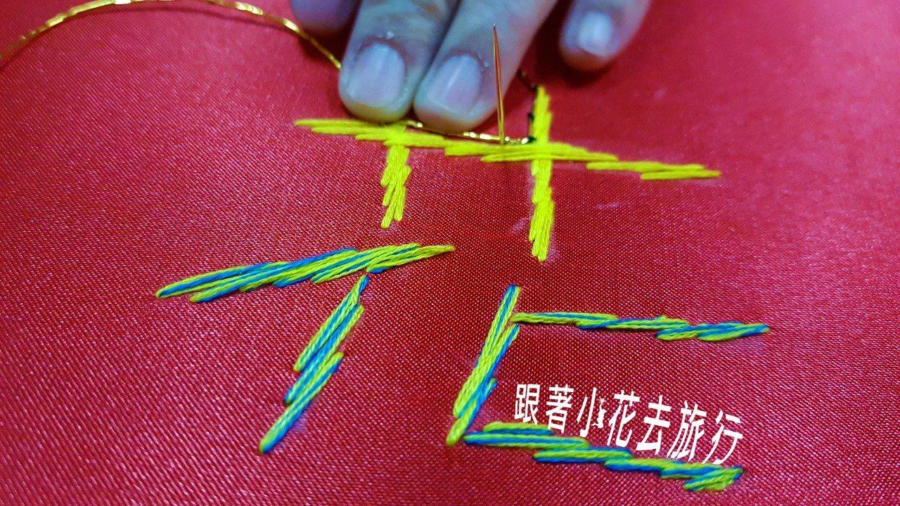 府城光彩繡莊的刺繡DIY,真的很好玩,但是我光繡一個花,就用了我將近兩個小時的時...