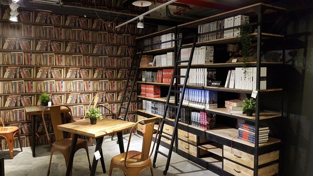由風格師王雅文打造的純真圖書室。記者王韶憶/攝影