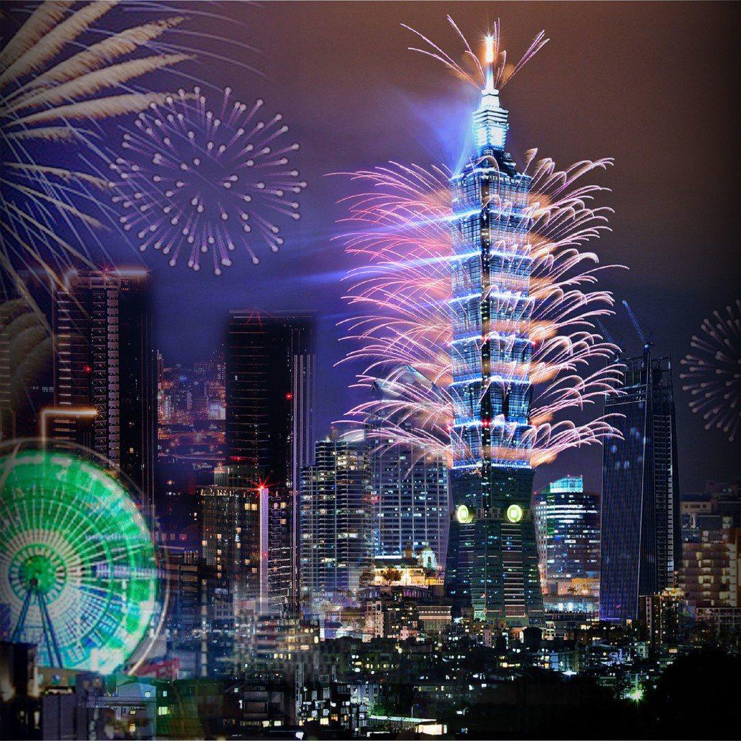 台北萬豪也以窗外的繽紛夜為號召,推出跨年活動。圖/台北萬豪酒店提供