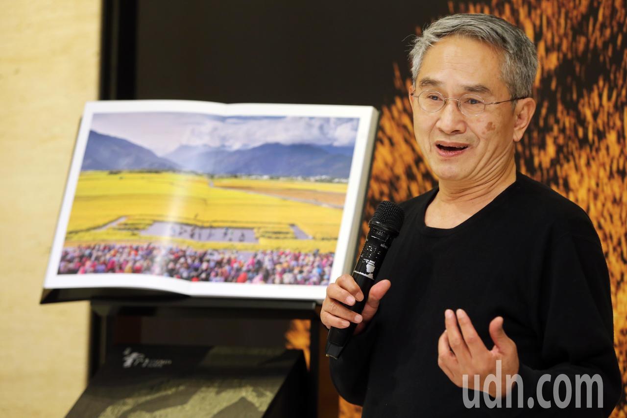 雲門舞集創辦人林懷民出席《收藏雲門》新書發表會。記者徐兆玄/攝影