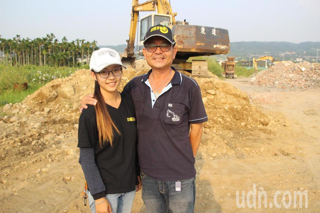 26歲吳亦筑擅長操作重機械,是父親的得力助手。記者林敬家/攝影