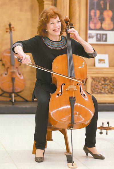 今晚在國家音樂廳舉辦獨奏會的大提琴女神瓦列芙斯卡,昨天特地南下台南奇美博物館,商...