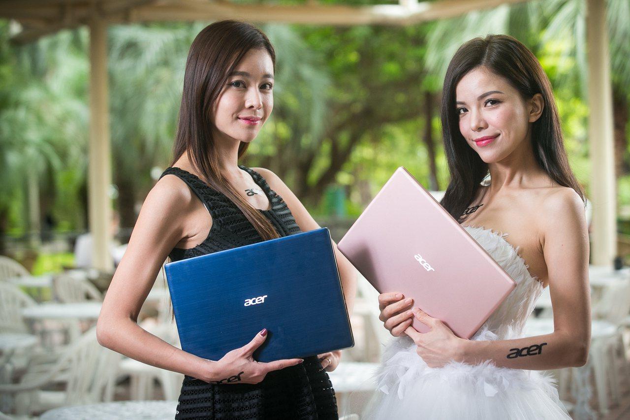 Acer Swift系列筆電,皆以輕薄時尚外型吸引消費者目光。圖/宏碁提供