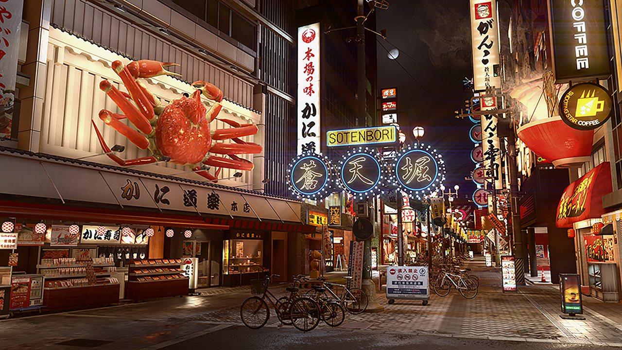 遊戲中的重要場景之一,大阪蒼天崛。圖/SEGA提供