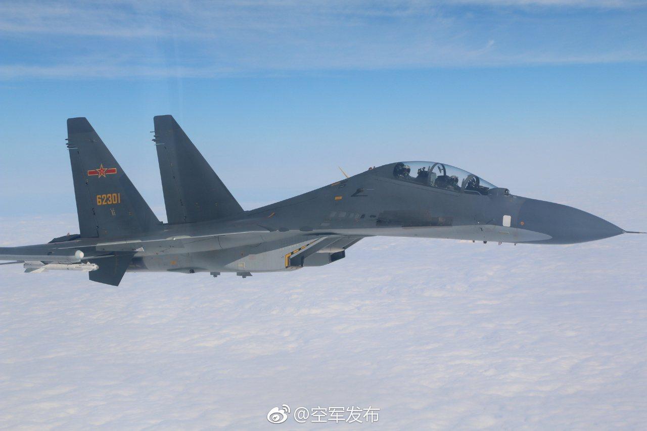 中共空軍發布官微