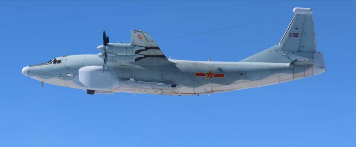運八「高新三號」電戰機,特色是機身兩側的龐大天線。圖/日本防衛省
