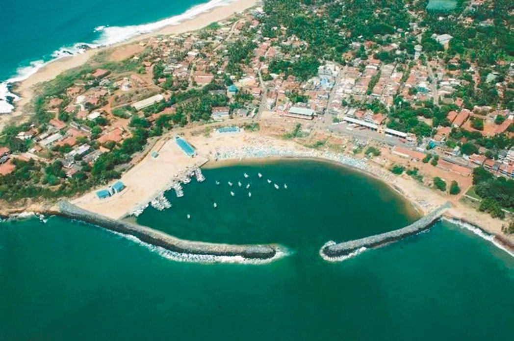 斯里蘭卡的漢班托塔港。 圖/取自央視
