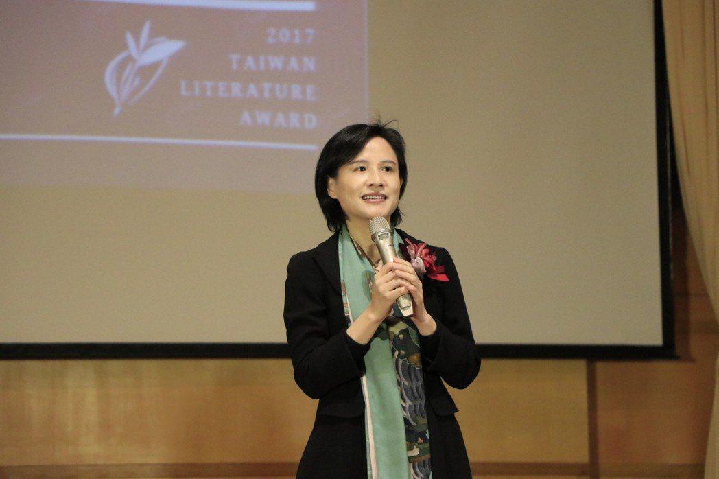 文化部長鄭麗君昨天出席贈獎典禮。 記者曹馥年/攝影