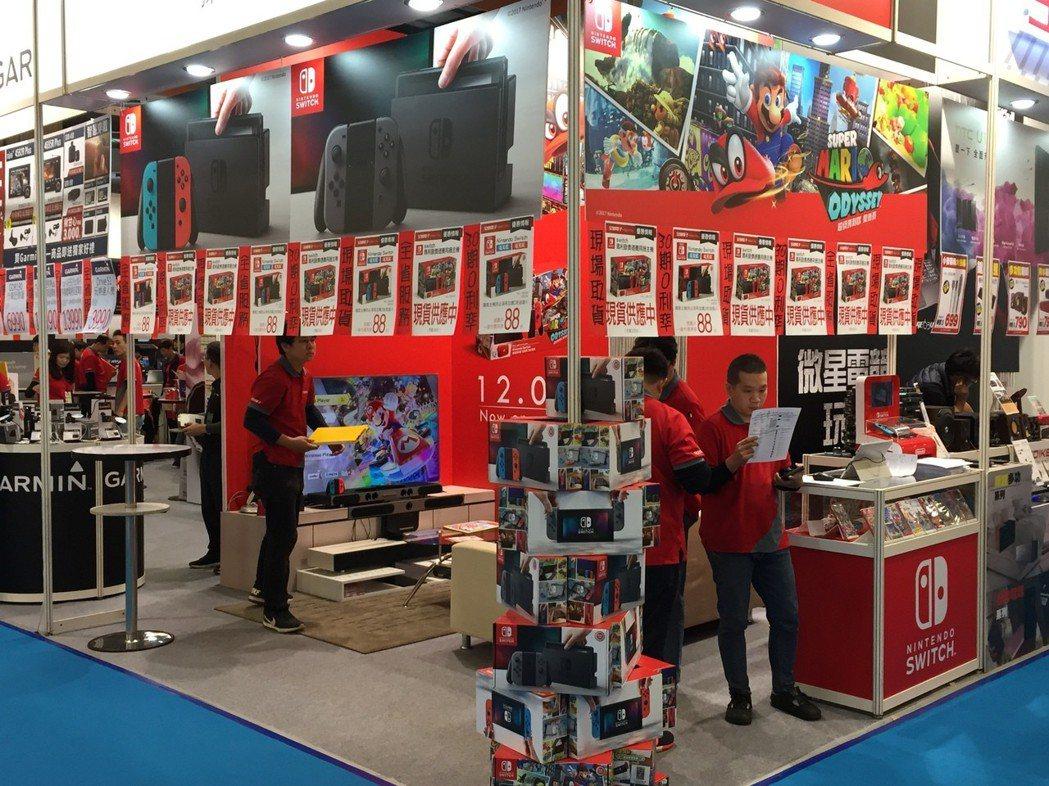 今年資訊月,成為任天堂新遊戲機Switch進軍台灣的第一戰。 記者曾仁凱/攝影