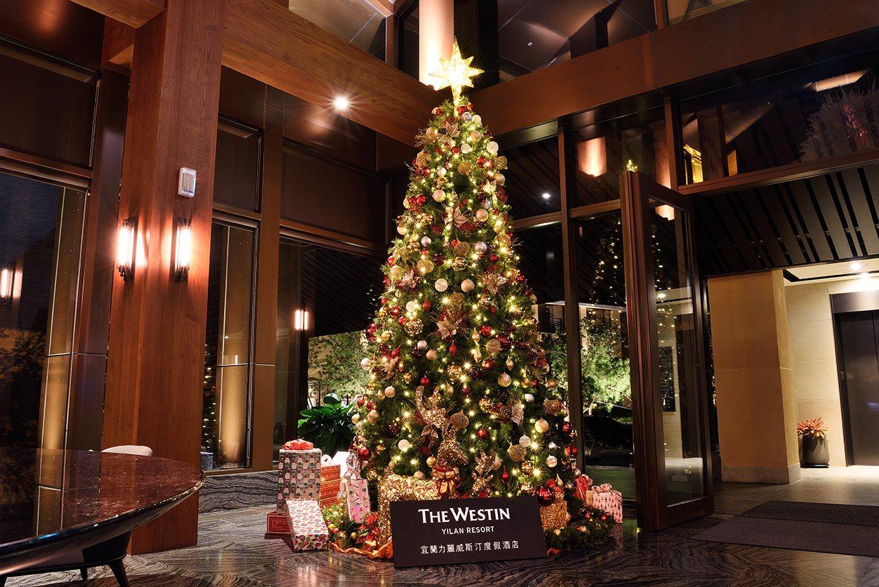 宜蘭力麗威斯汀度假酒店耶誕節慶濃。圖/宜蘭力麗威斯汀度假酒店提供