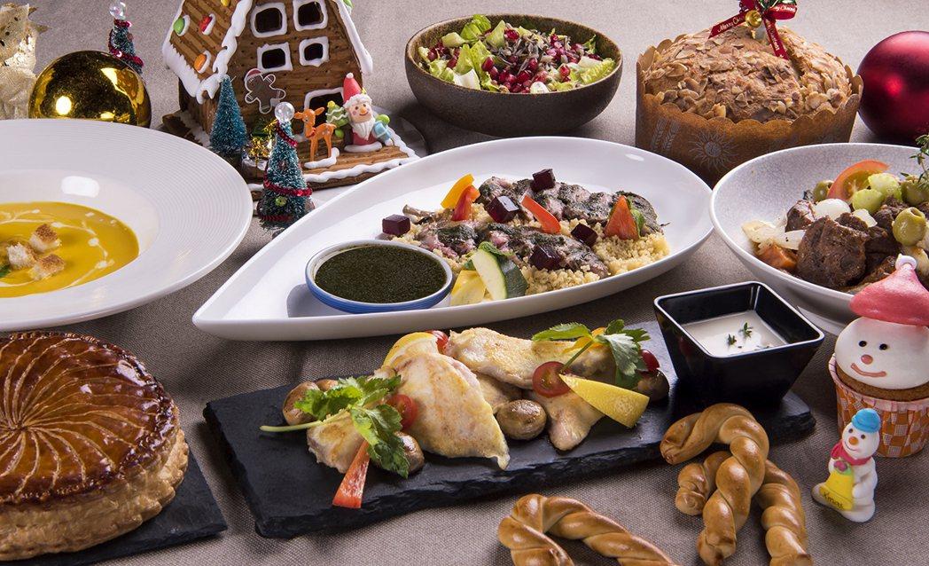 宜蘭力麗威斯汀度假酒店推出耶誕節美食。圖/宜蘭力麗威斯汀度假酒店提供