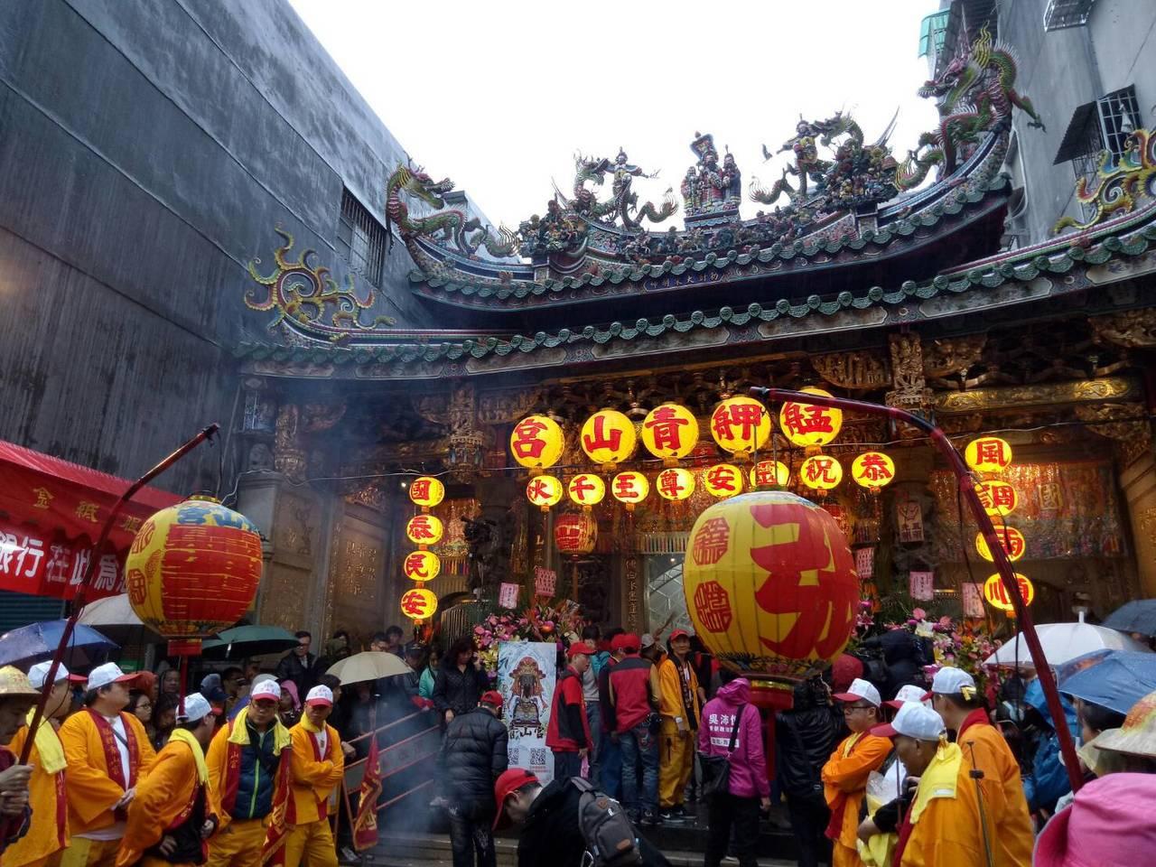 萬華青山宮一年一度的「青山王祭」日前登場。記者吳思萍/攝影