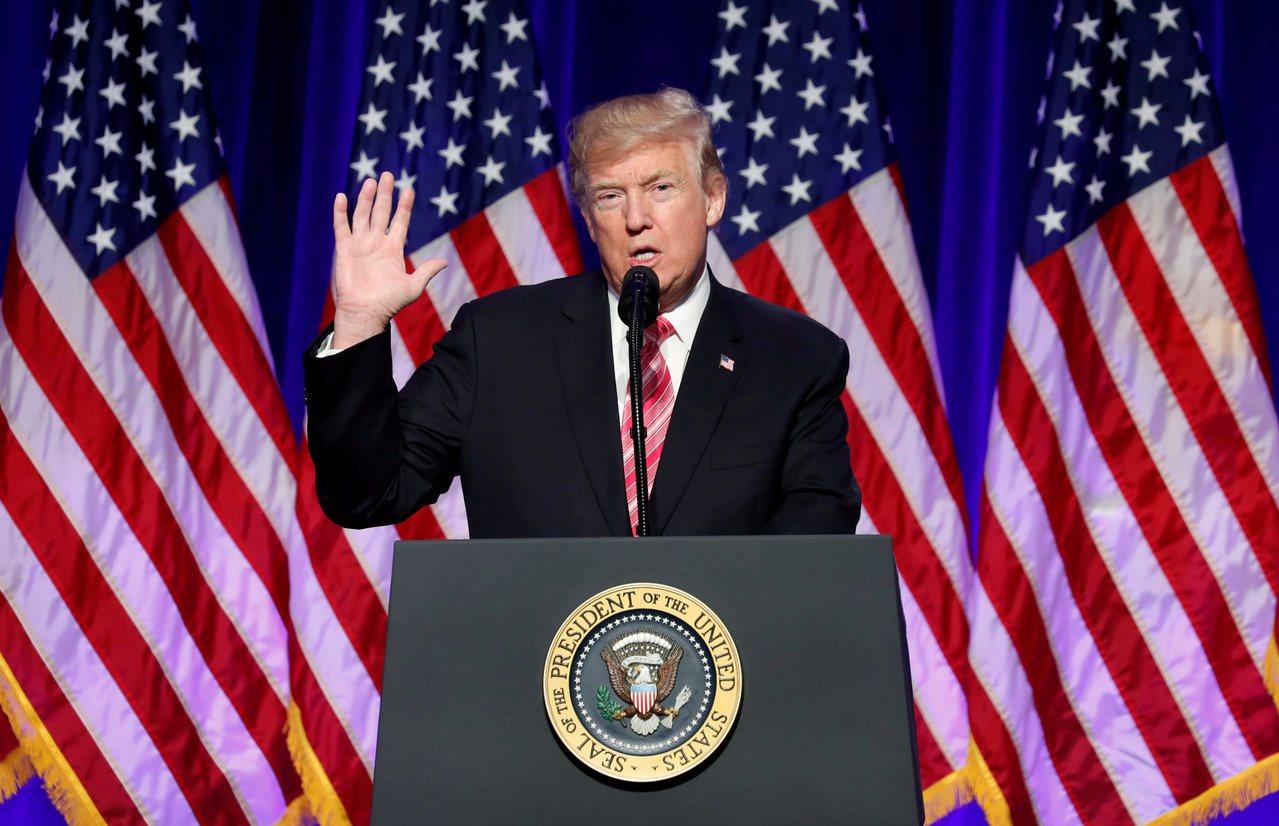 美國總統川普痛批CNN報導「假新聞」。路透