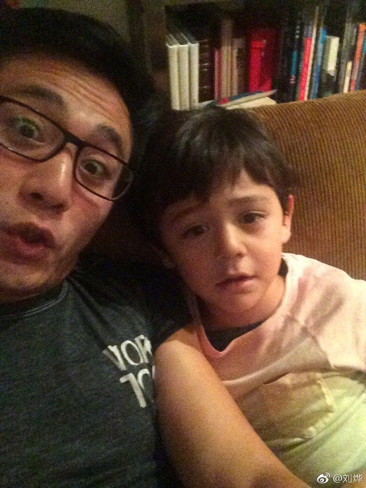 劉燁的大兒子諾一人氣幾乎比爸爸還旺。圖/摘自微博
