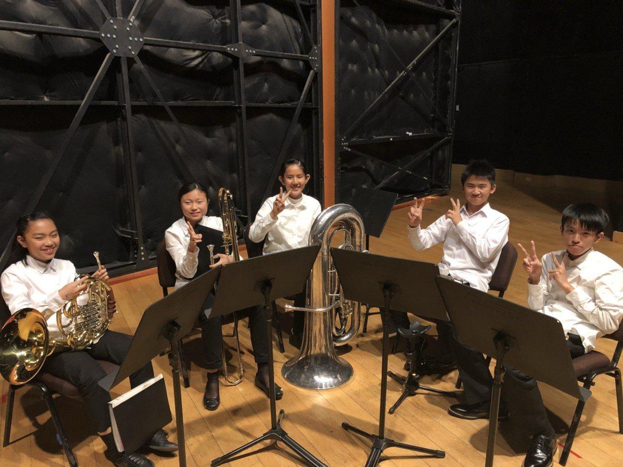 建華國中銅管五重奏優等進入全國賽。圖/新竹市府教育處提供