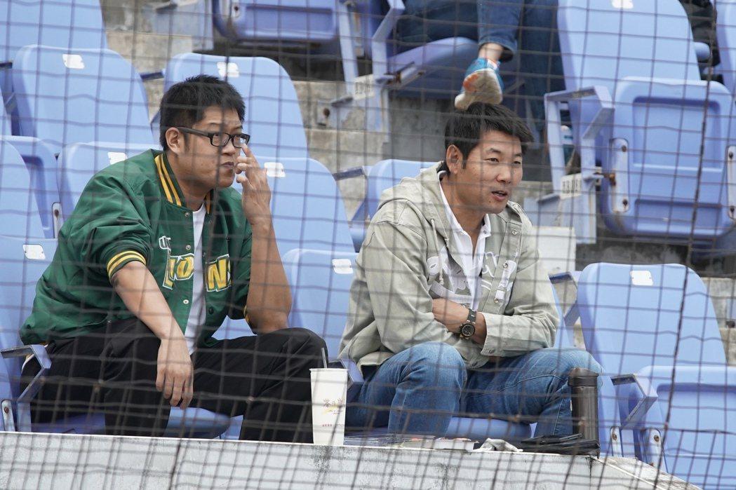 統一獅隊總教練黃甘霖現身場邊觀賽。圖/中職聯盟提供