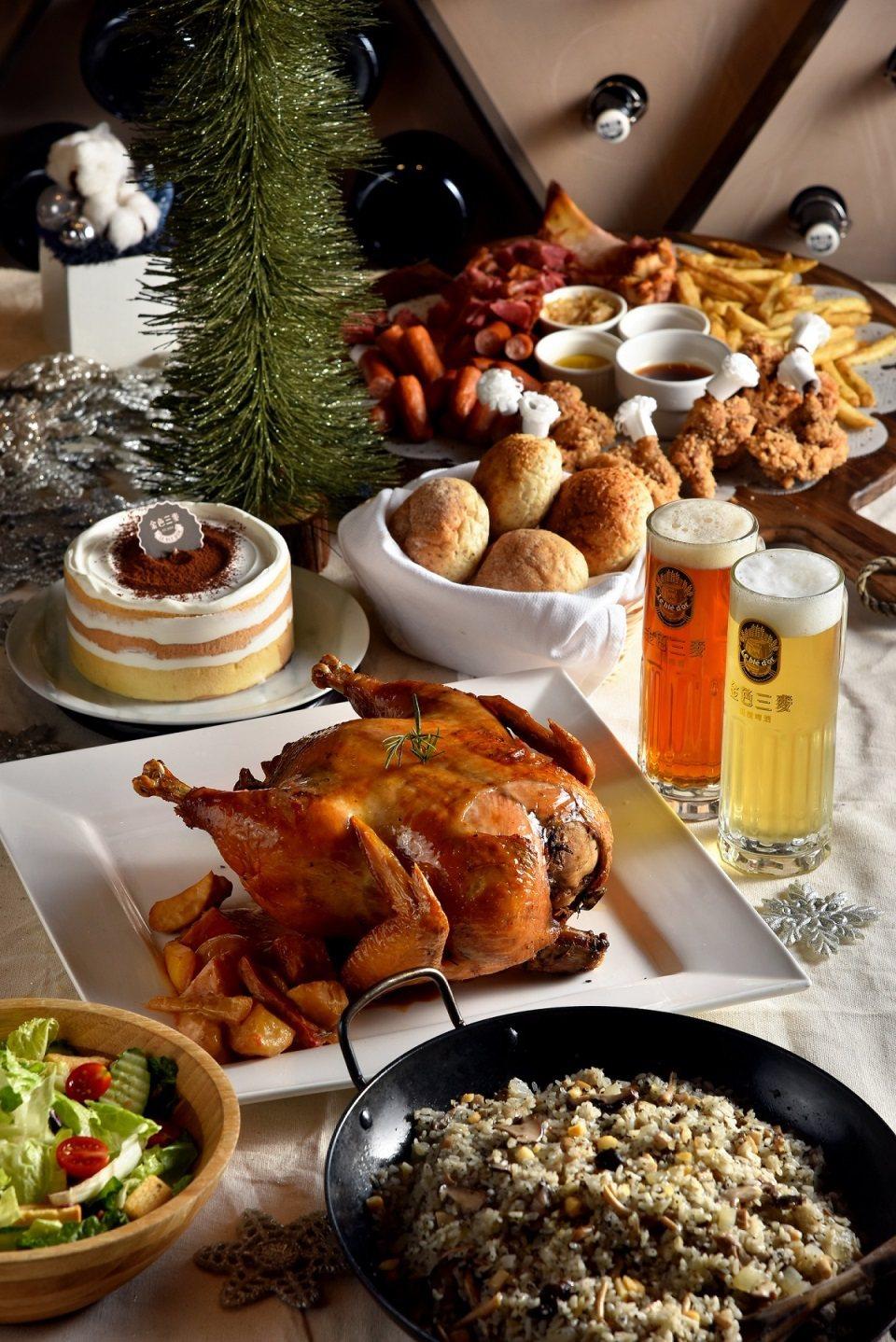 金色三麥餐廳推出「繽紛耶誕套餐」,精選7項人氣料理。圖/金色三麥提供***未...