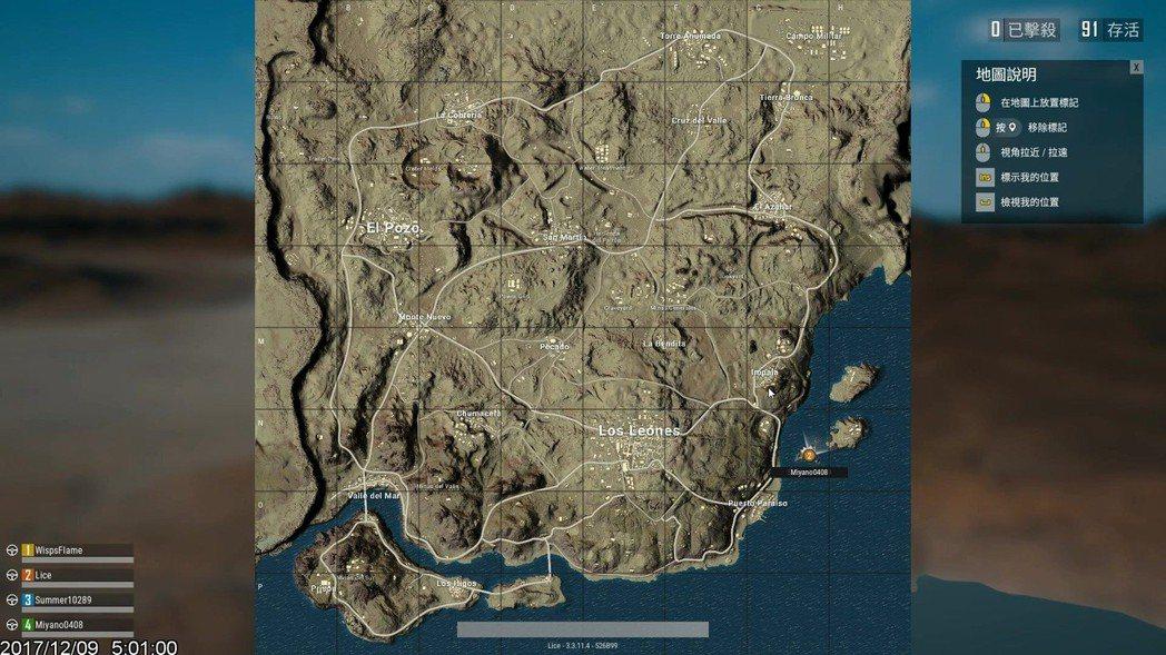 沙漠地圖全貌