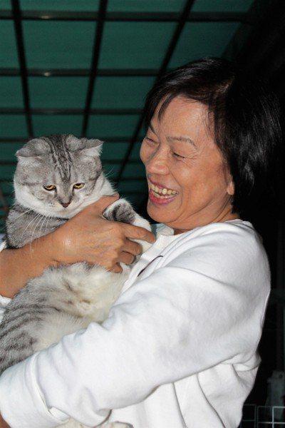 龍應台帶著愛貓移居南方。 記者翁禎霞/攝影