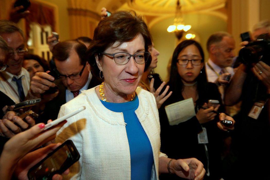 原支持參院版稅改案的參議員柯林斯(Susan Collins)表示,她尚未決定是...