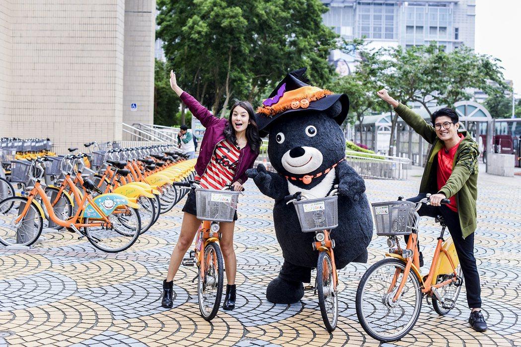 熊讚騎自行車。圖/TVBS提供