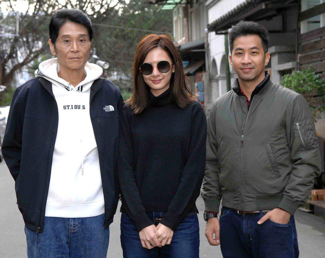 喜翔(左起)、安心亞、黃健瑋將演出「阮氏碧花與她的兩個男人」。圖/華視提供