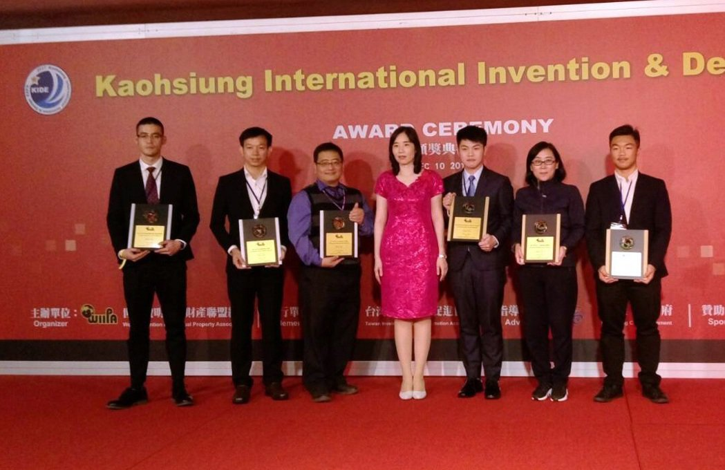 龍華科技大學師生派出24項發明專利角逐「2017KIDE高雄國際發明暨設計展」,...
