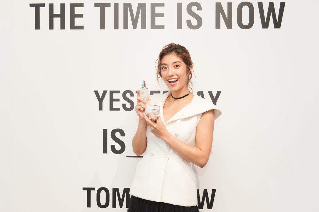 瑞瑪席丹出席迪奧「凍妍新肌系列」新品發表會。圖/迪奧提供