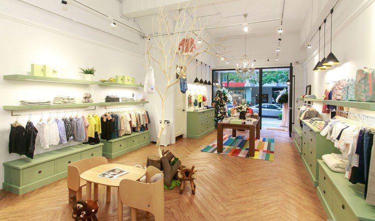 BLANCHE嬰幼兒時尚選品店在大直開設首家實體店鋪。圖/BLANCHE提供