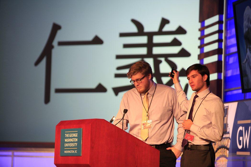 11月18日,美國喬治華盛頓大學中國學生學者聯合會和孔子學院聯合主辦漢語辯論賽。...