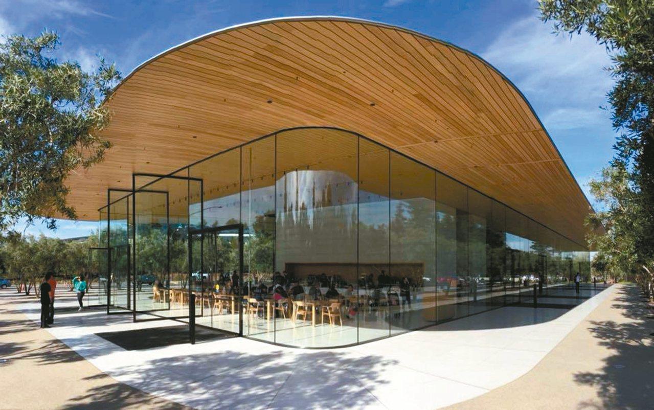 APPLE Park蘋果總部擁有未來感的建築風格。 圖/有行旅提供