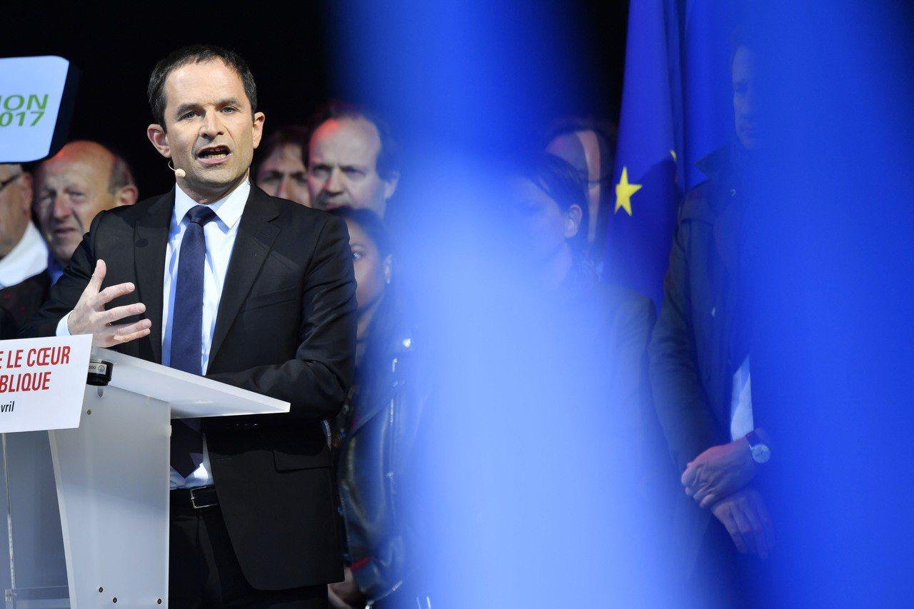 今年初代表社會黨(PS)競選總統的阿蒙(Benoit Hamon)。 歐新社