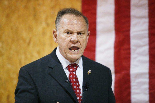 阿拉巴馬州聯邦參議員共和黨候選人摩爾。 美聯社