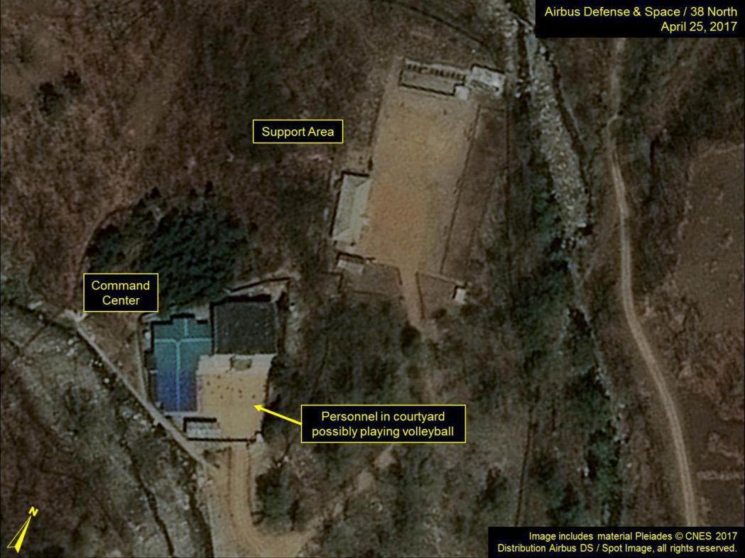 圖為豐溪里核試場的衛星影像圖。 (路透)