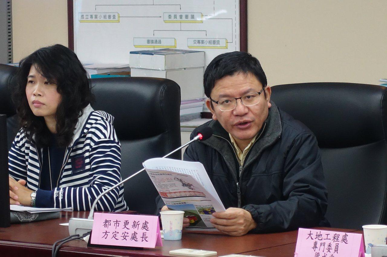 山坡地第三種住宅區(住三)究竟是要開放都市更新,引發爭議,台北市議會昨為此召開公...
