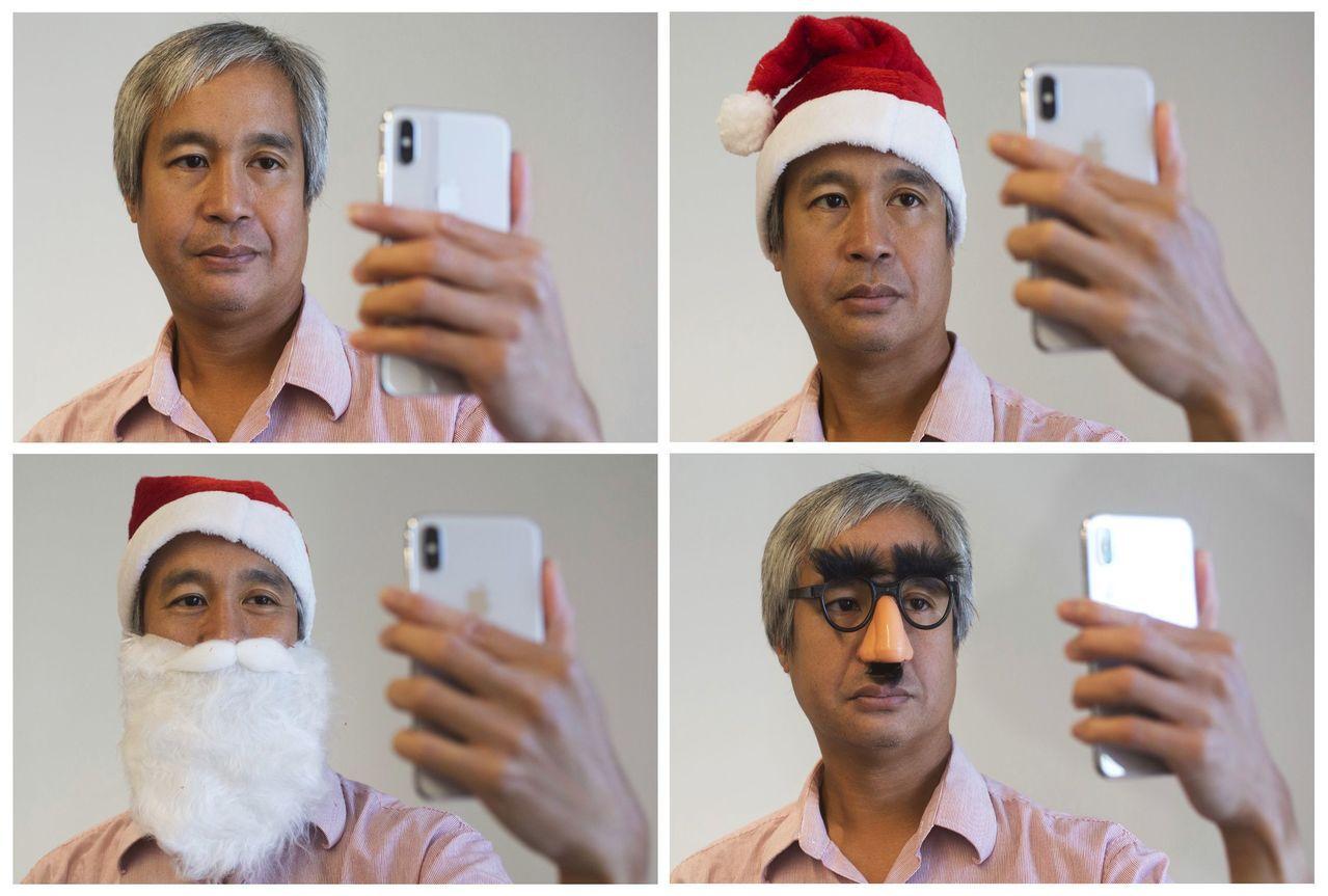 智慧手機業者紛紛跟進蘋果採用3D臉部辨識,3D感測需求大增。(美聯社)