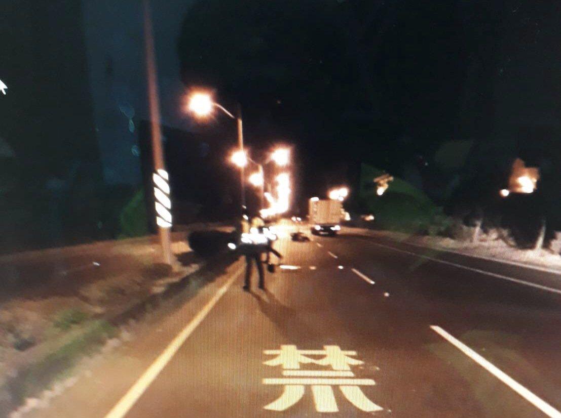 車禍發生在恆春鎮省北路段。記者蔣繼平/翻攝
