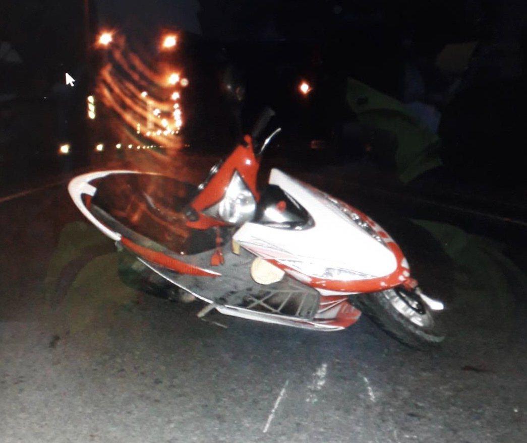 無照少年酒駕騎機車發生車禍。記者蔣繼平/翻攝