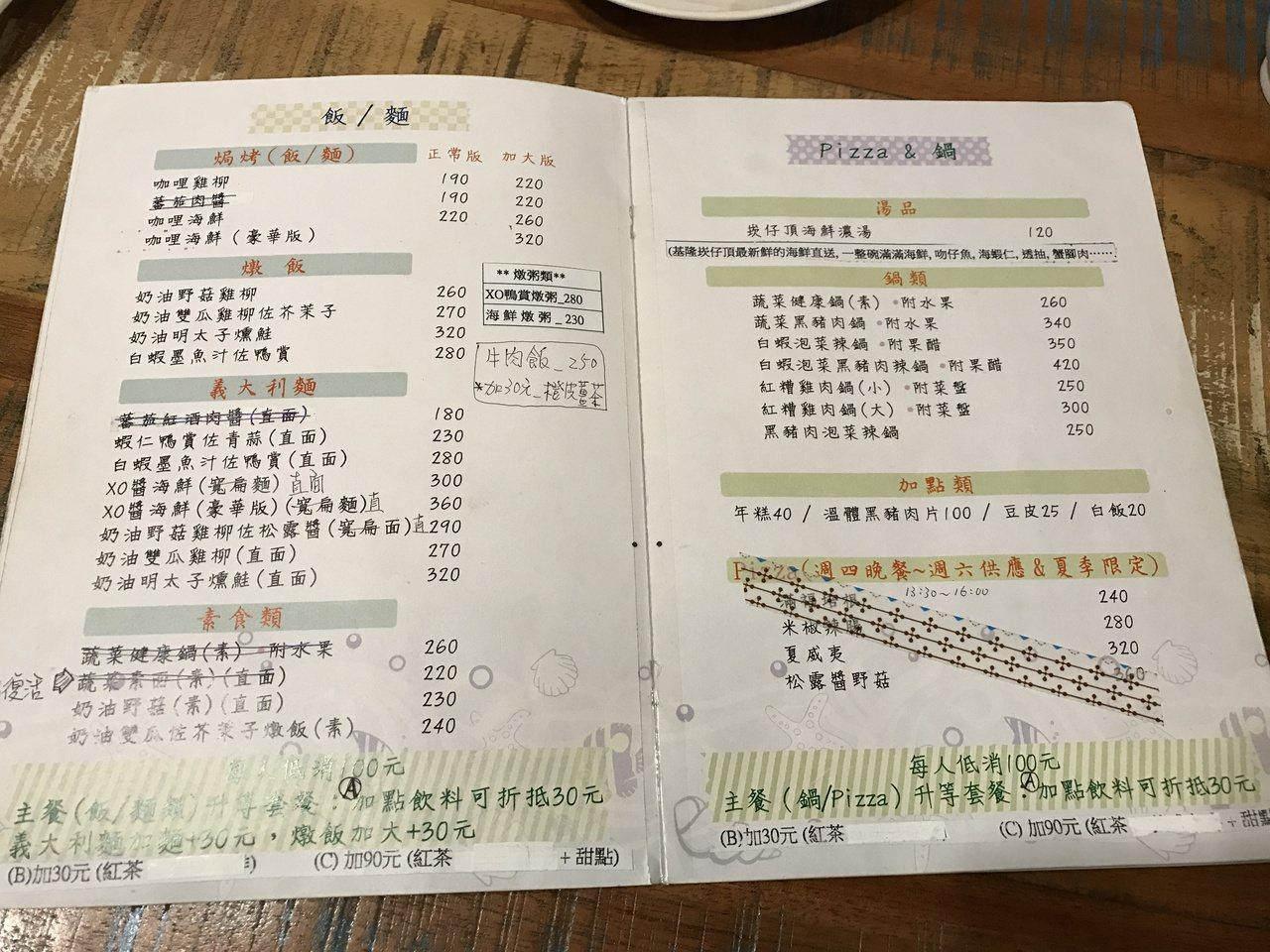 餐點明細。記者吳淑君/攝影