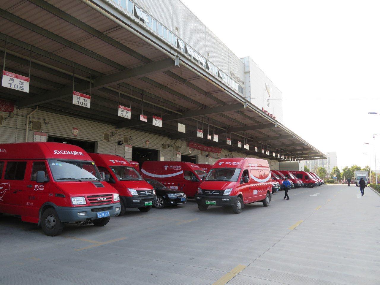 京東位於上海嘉定的上海物流中心—「亞洲一號」,佔地約120畝,面積超過14個足球...
