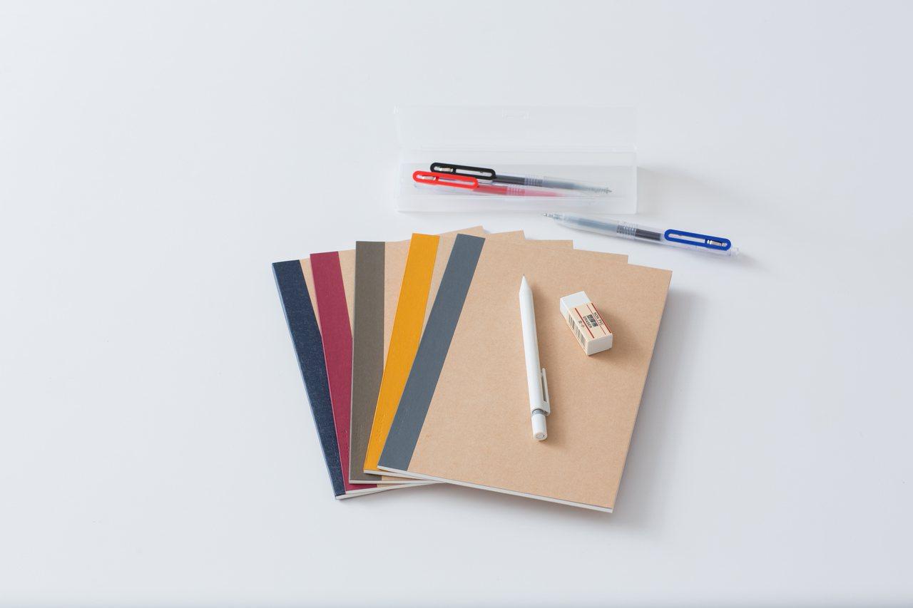 若贈禮對象為學生或同窗好友,推薦選購兼具設計感與易書寫的文具系列。圖/無印良品提...