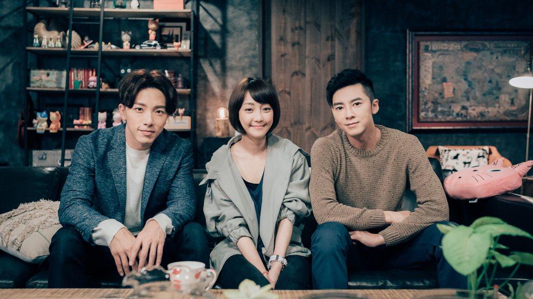 李國毅(右起)、謝欣穎、謝坤達合作「1006的房客」。圖/歐銻銻娛樂提供