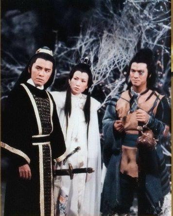 姜大衛、井莉與李修賢合演「孔雀王朝」。圖/摘自時光網