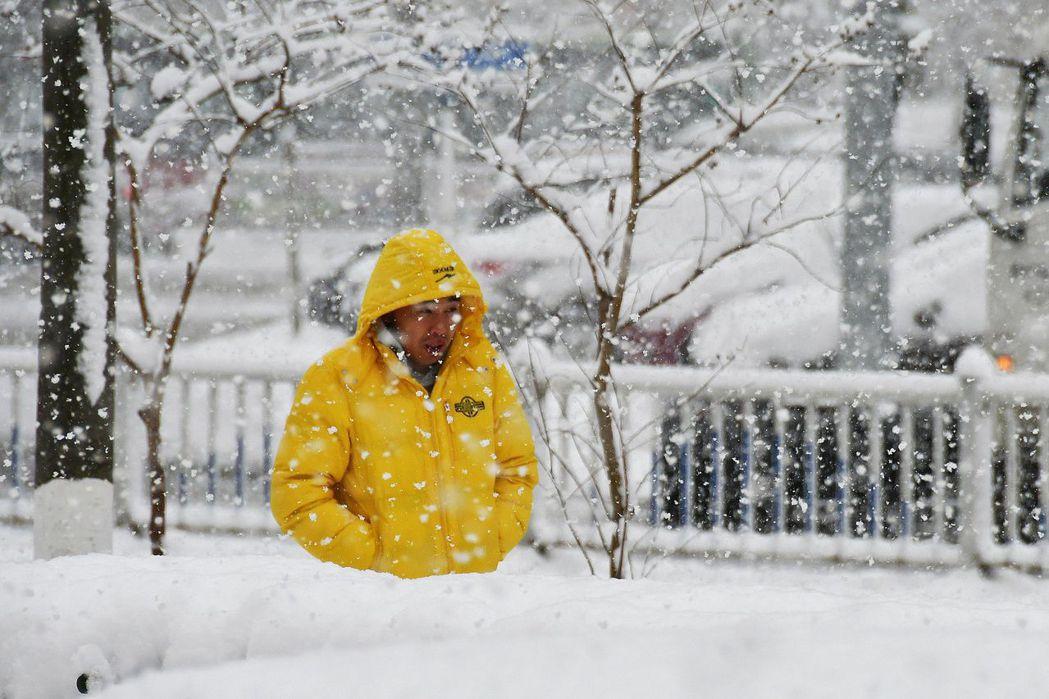 受冷空氣影響,山東煙台11日下起入冬以來最大降雪。12日上午,煙台市氣象台發布道...