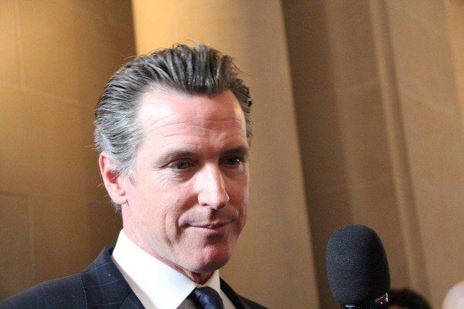 现任副州长,前旧金山市长纽森。